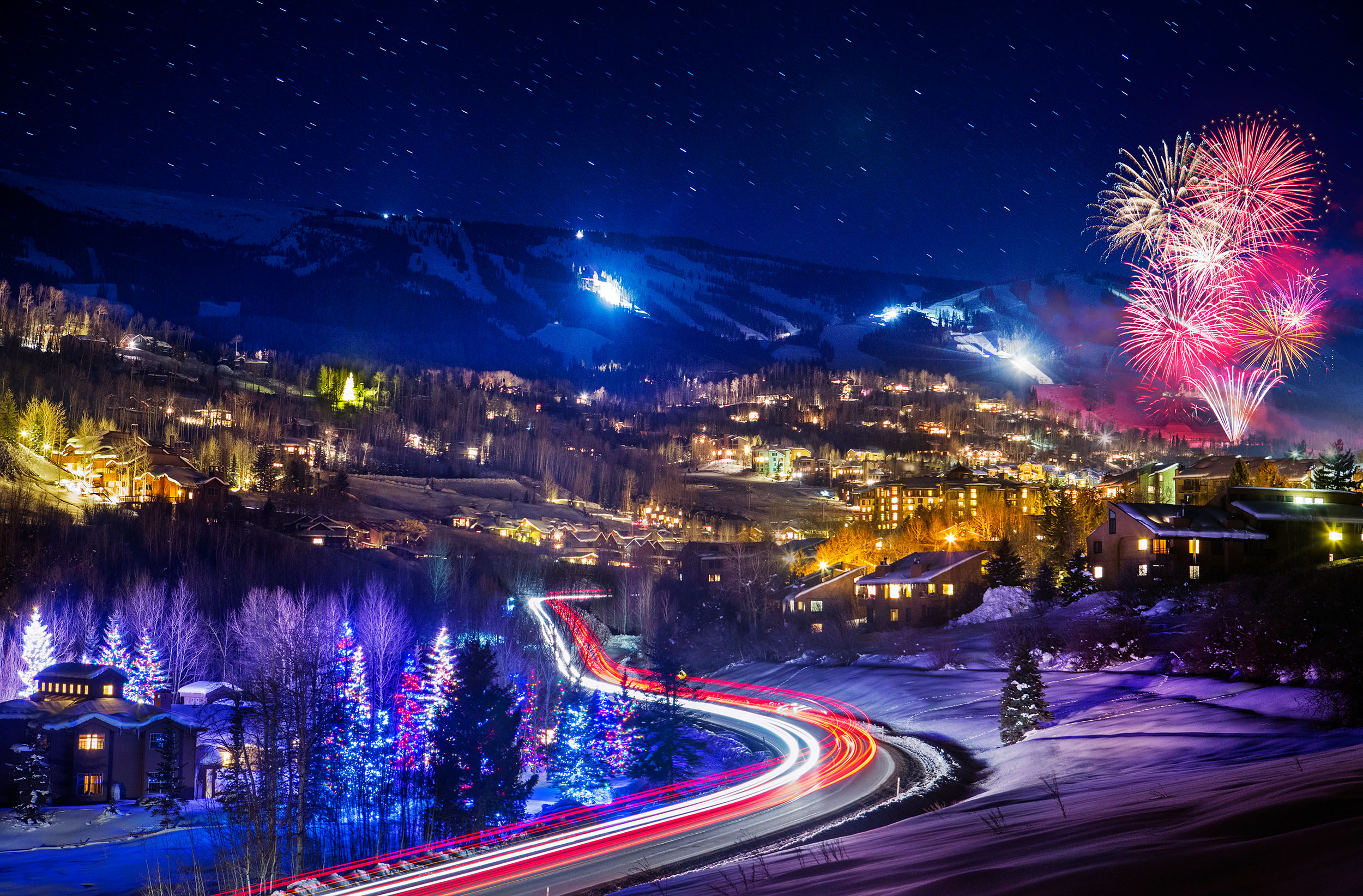 Snowmass Village Fireworks by Jeremy Swanson